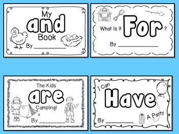 Comprehensive image intended for sight word book printable