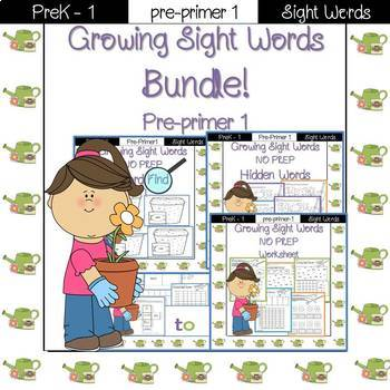 Sight Word- Bundle! pre-primer 1