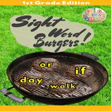 4th of July 1st Grade Sight Words Burgers Summer Game- BBQ