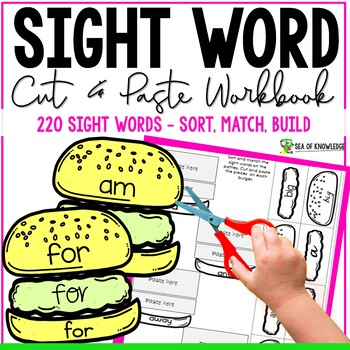 Sight Word Burgers {Basic Sight Words 220}