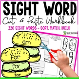Sight Word Cut and Paste Burgers 220 Words