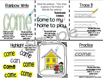 Sight Word: CAME- Interactive Flap Book, Reader, and More!