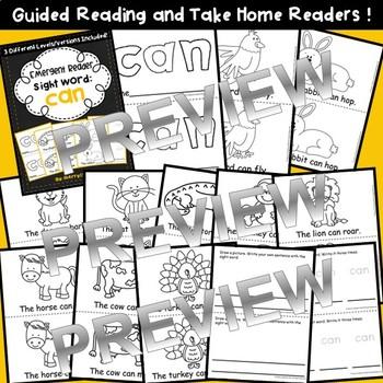 Sight Word Fluency Reader CAN