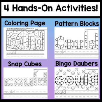 Sight Word COULD {2 Sight Word Books and 4 Worksheets!}