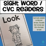Sight Word / CVC Word Reading Books