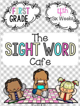 Sight Word Cafe: First Grade-4th 6 Weeks {Color and B&W}