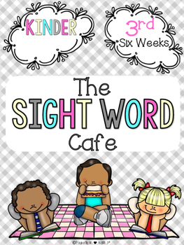 Sight Word Cafe: Kindergarten-3rd 6 Weeks {Color and B&W}