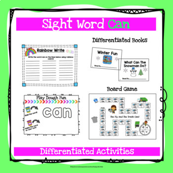 Sight Word Can Activities
