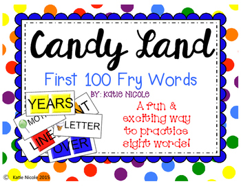 Candy Land - 1st 100 Sight Words
