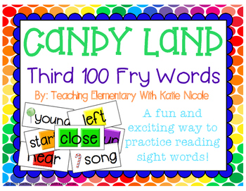 Sight Word Candy Land *Third 100 Fry Words*