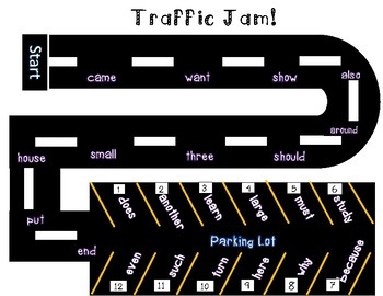 Sight Word Car Game