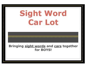 Sight Word Car Lot