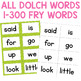 Sight Word Card Game {Dolch and Fry Words}