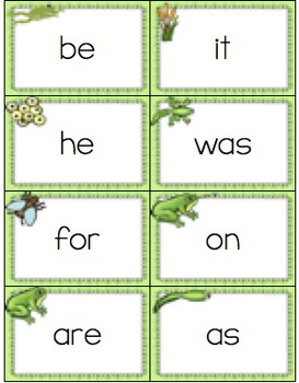 Sight Word Card Game: The Odd Frog Fry's 1st 100 Words