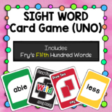 Sight Word Card Game [UNO] - Set 5