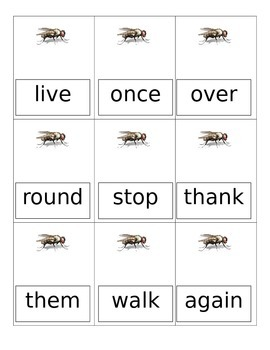 Sight Word Card Game for First Grade