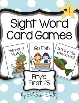 Sight Word Card Games - Bundle of First 100 Words