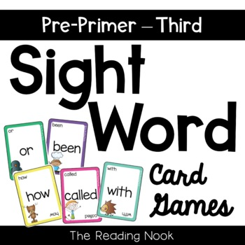 Sight Word Card Games - Complete Dolch List