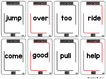 Sight Word Card Games: First Grade {Whole YEAR}