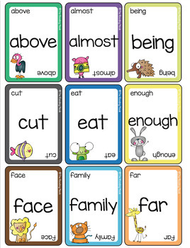 Sight Word Card Games - Fry Words Third 100
