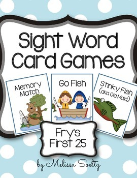 Sight Word Card Games - Fry's  #1A 1-25