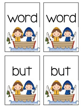 Sight Word Card Games - Fry's  #1B 26-50