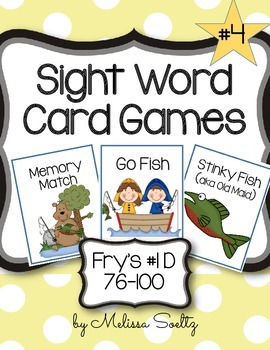 Sight Word Card Games - Fry's  #1D 76-100