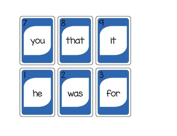 Sight Word Card-o