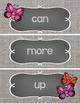 Sight Word Cards #1-100 - Word Wall - Butterflies