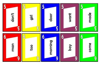 Sight Word Cards 101 to 200