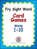 Sight Word Card Games Freebie