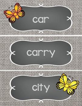 Sight Word Cards #201-300 - Word Wall - Butterflies