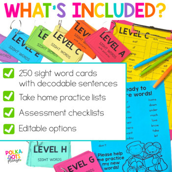 Sight Word Cards   Distance Learning