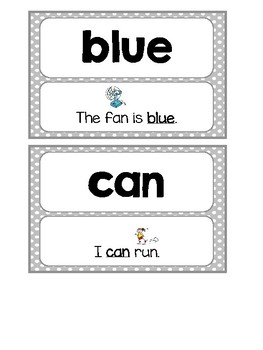 Sight Word Cards with Sentences