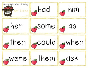 Sight Word Cards & Bingo