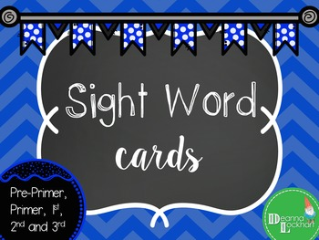 Sight Word Cards - Blue
