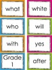 Sight Word Cards Colorful
