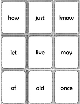 Sight Word Cards Dolch First Grade
