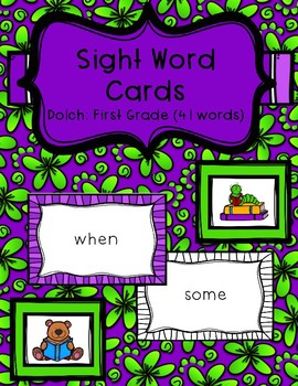 Sight Word Cards - Dolch: First Grade