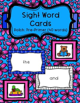 Sight Word Cards - Dolch: Pre-Primer