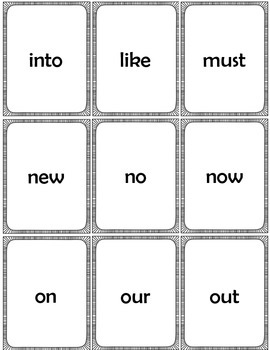 Sight Word Cards  Dolch Primer