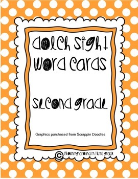 Sight Word Cards Dolch Second Grade