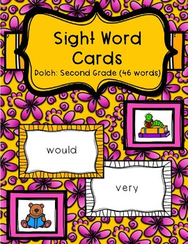 Sight Word Cards - Dolch: Second Grade