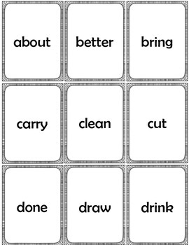 Sight Word Cards Dolch Third Grade