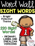 Sight Word Cards - EDITABLE - Bright Polka Dot Sight Word Cards - Word Wall