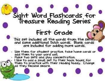 Sight Word Cards First Grade Treasures Series - Freebie