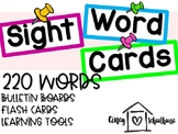 Sight Word Cards - For Bulletin Boards, Flash Cards, Learning Tools