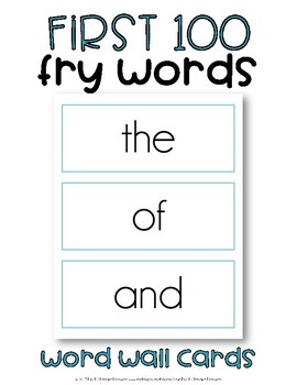 Sight Word Cards, Fry Instant Words (1-100)