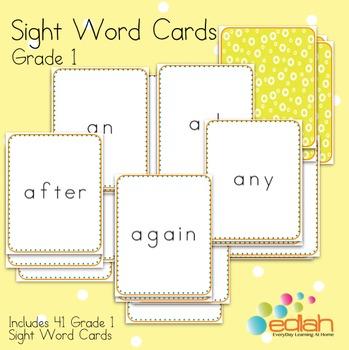 Sight Word Cards-Grade 1