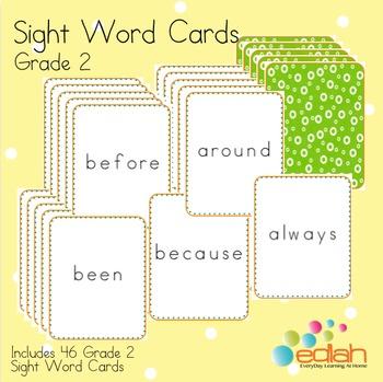 Sight Word Cards-Grade 2